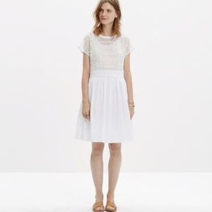 Madewell white geo lace eyelet dress